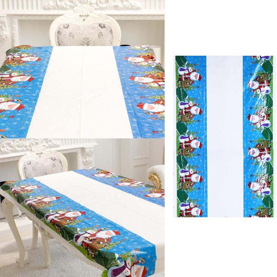 P top 110 180cm christmas disposable tablecloth festive for 180 degrees christmas decoration