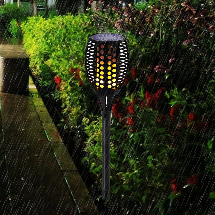 P Top Waterproof Solar Powered Flickering Flame Torches