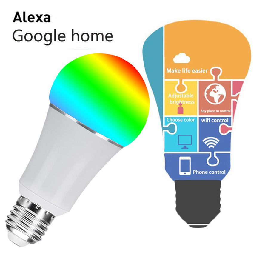 P Top E27 Wi Fi Rgb Led Bulb Light Voice Control By Alexa Echo Details About Lighting Activated 12v Switch Lamp Solar Energy Saving The Same As Traditional White Knit Brightness Savings Of Up To 817 Compared Electricity