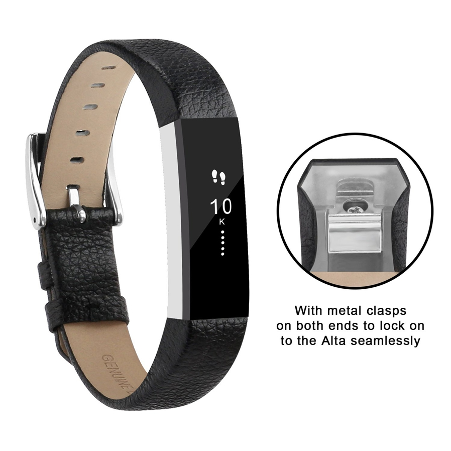 The Fitbit Alta and Fitbit Alta HR bands are made of genuine leather. They are soft, durable and comfortable to wear. Colorful and fashionable choice for ...