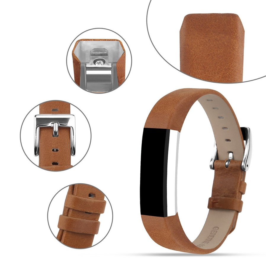 1 x Genuine Leather Replacement Band for Fitbit Alta HR and Alta (Tracker is NOT included )