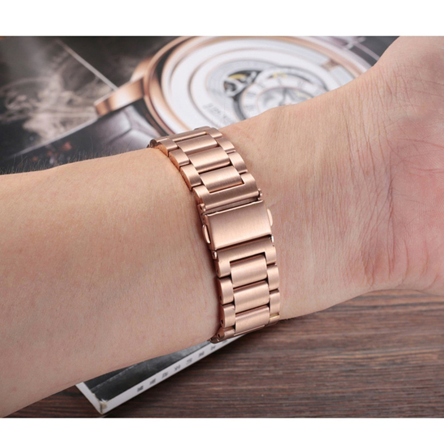 """Fits 5.31""""-8.26"""" (135mm-210mm) wrist. Comes with one removal tool and 2 spring pins for adjusting the length of band."""