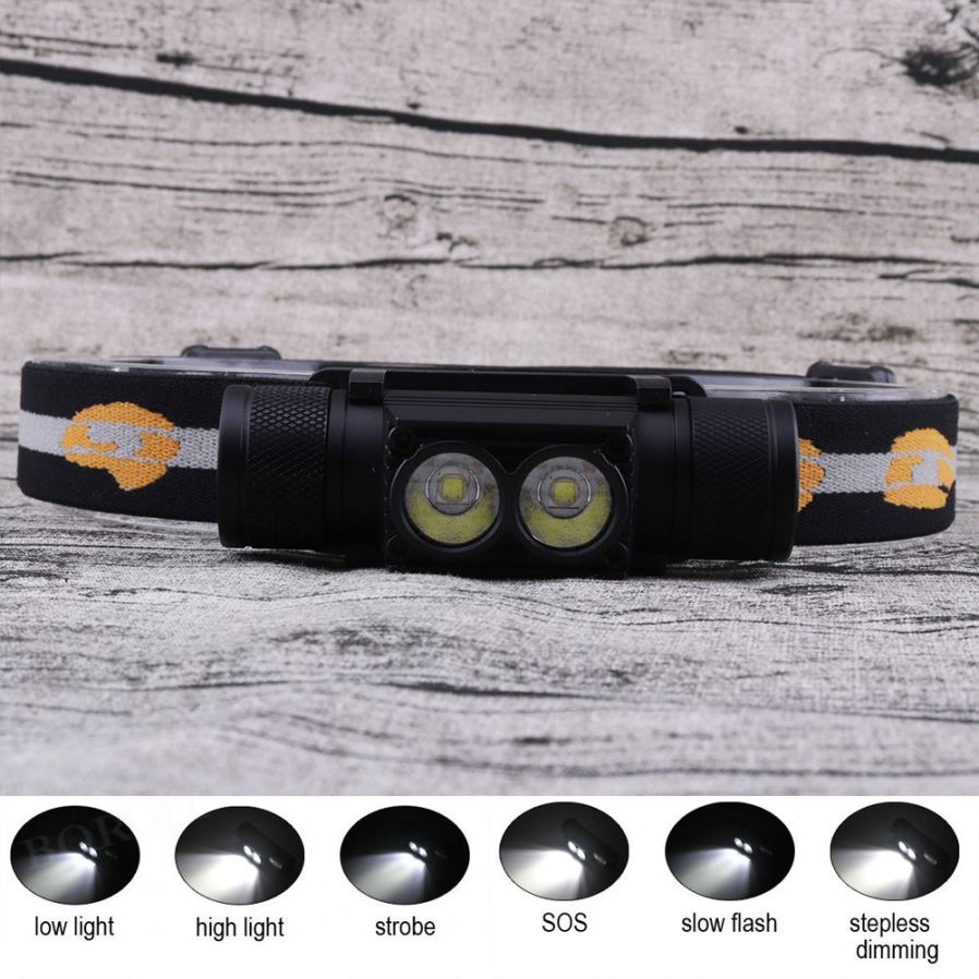 Zhaoyao Waterproof L2 2 Led 6 Mode Rechargeable Head Lamp Rotating 038 Flashing 230v Lights When The Switch Is Light You Can Choose Right To Use New Design Headlamp Break Traditional Dimming More Brightness Meet Your
