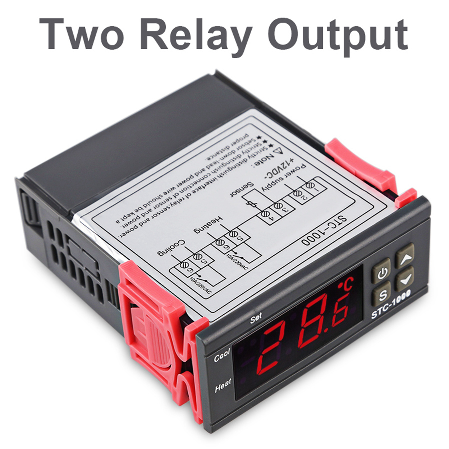 Esamact Led Digital Temperature Controller Stc 1000 24v Wiring Diagram 4support Correction And Support For Power Loss The Parameters Of Sudden Failure Are Still Valid 5application Range Is Like Home