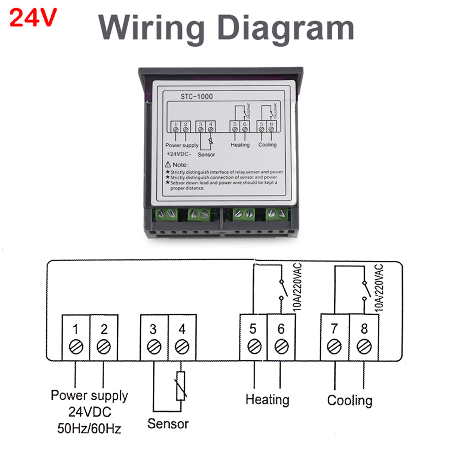 esamact led digital temperature controller stc 1000 thermoregulator 4 support temperature correction and support for power loss the parameters of the sudden power failure are still valid 5 application range is like home