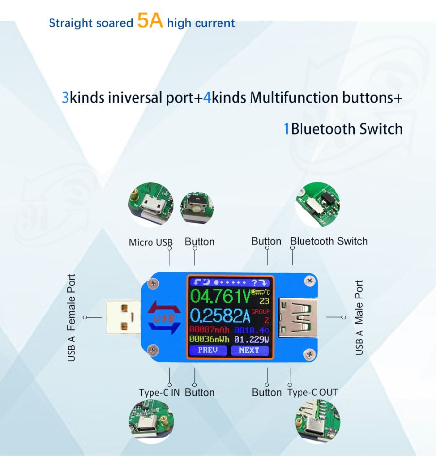 Esamact Um24 App Usb 20 Type C Lcd Voltmeter Ammeter Voltage Ja Bluetooth Wiring Diagram 3 Connection 31 Open The Switch On Um25c 32 Use Compute To Search Device