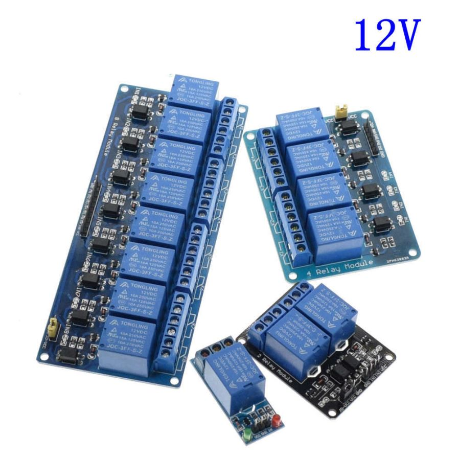 Esamact 5v 12v 24v 1 2 4 8 Channel Relay Module With Optocoupler The 8way Board General