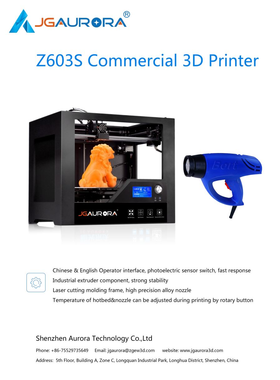 Jgaurora z 63s 3d desktop printer with 280180180mm printing size printing technology fdm fused deposition modeling structure sheetmetal by cnc machining build size11 71 71in layer thickness01 04mm fandeluxe Choice Image