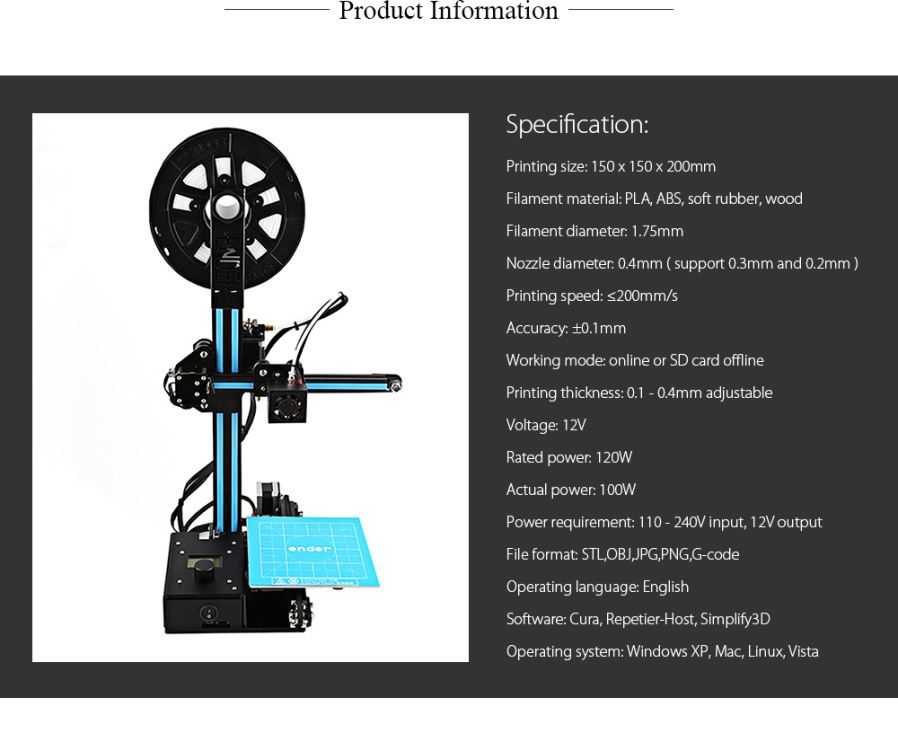 Creality3d ender2 diy high precision spare parts 3d for General motors parts online discount code