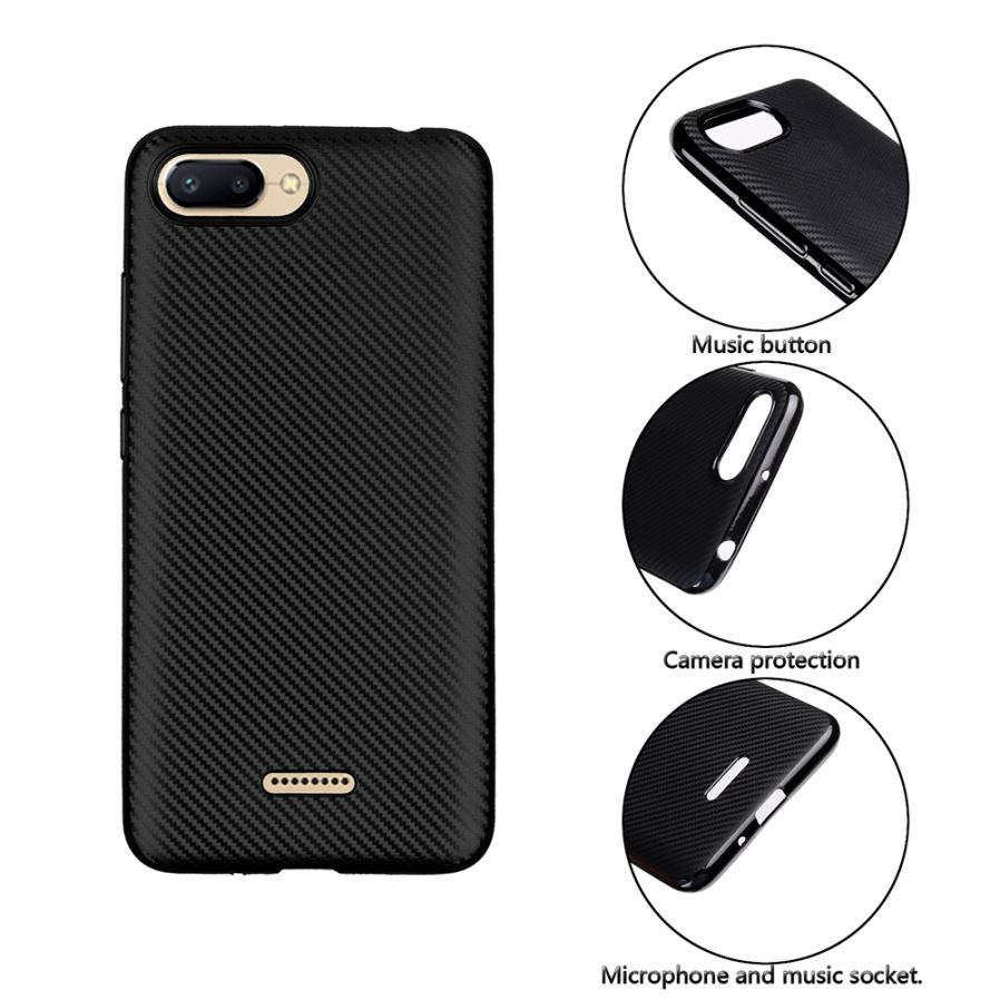 Ultra Slim Tpu Carbon Fiber Matte Phone Case For Xiaomi Redmi 6 Remax Aluminum Metal Button Bumper Protector Iphone 5 5s Back Fashion Precise Cutouts Access To All The Buttons Perfectly Anti Drop And Shock Resistant