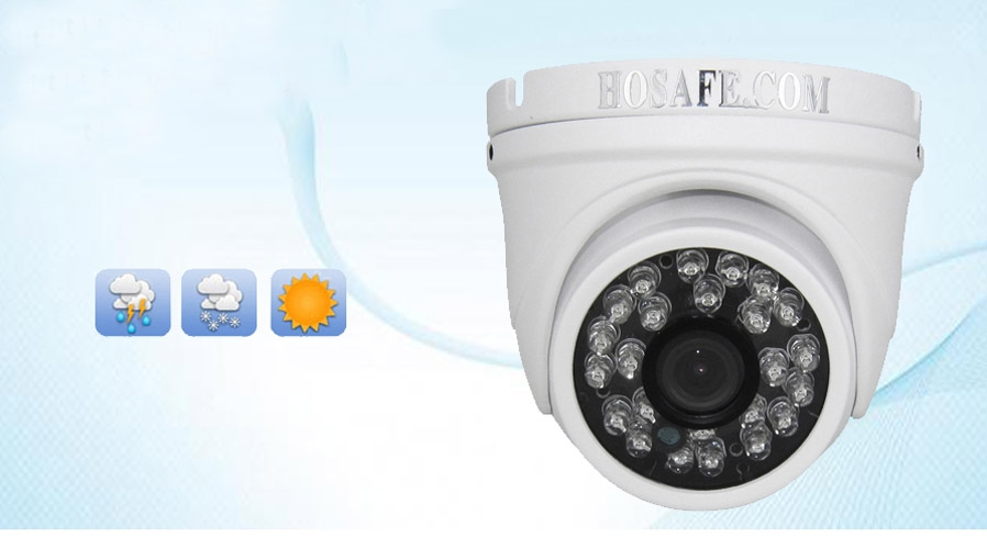 HOSAFE 2MD4P 1080P POE Outdoor Dome IP Camera - White