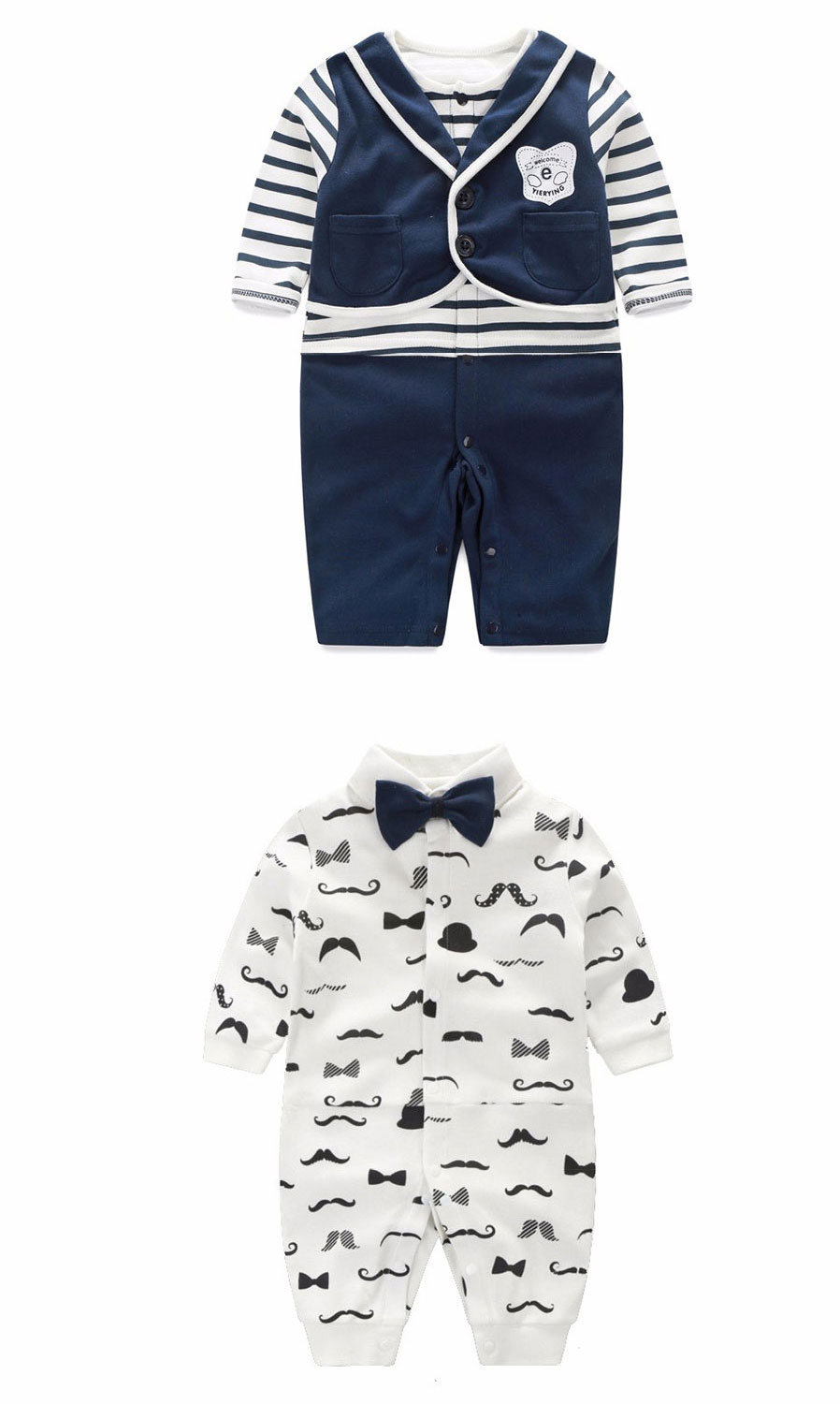bb50a2f46 IDGIRL Boy Rompers Suit Newborn for 6~9 Months Baby Boy - Gray + White -  Free Shipping - DealExtreme