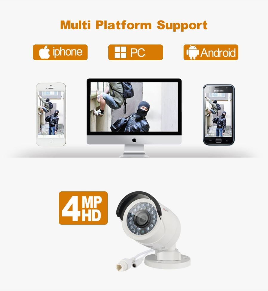 HIKVISION DS-2CD2042WD-I 4MP Bullet Security IP Camera with POE Network  camera Security Cameras Surveillance