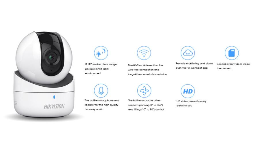 Hikvision Mini WiFi Camera 720P Wireless IP Camera DS-2CV2Q01FD-IW Wi-Fi  Network PT Camera Built-in Speaker amp SD