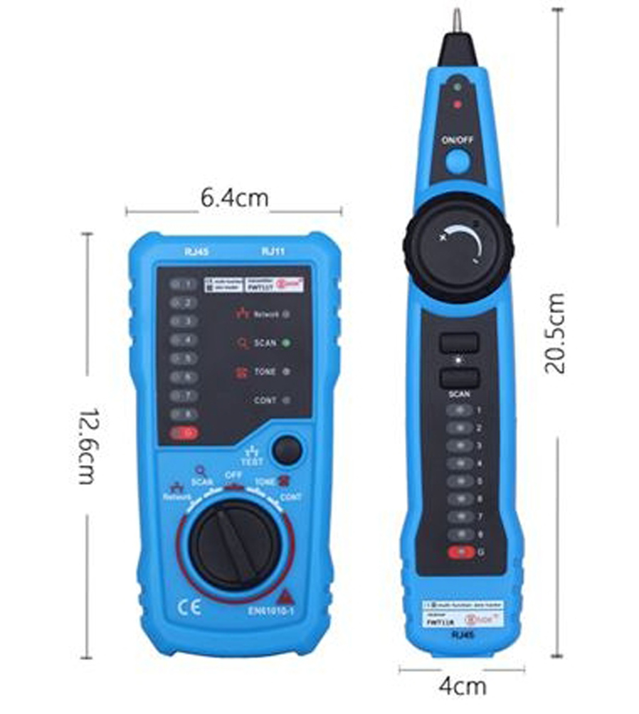 Fwt11 Multifuction Net Cable Tester Wire Tracker Blue Black Wholesale Multifunctional Digital Circuit Voltage Detector Pen 4wire Scan Indication Light 5status 6 Continuity 7 Led Sequence 8 Test Button 9 Function Rotary Knob