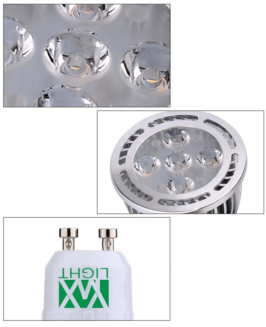 Ywxlight 10pcs gu10 5w 5 smd 3030 led spotlights cool for Protector parking carrefour