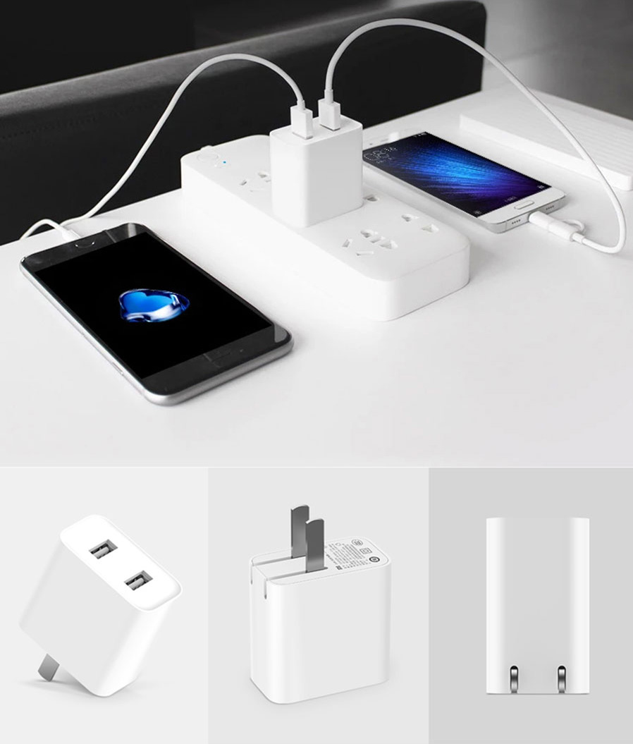Original Xiaomi 2 Port Usb 2a Fast Charging Mobile Charger
