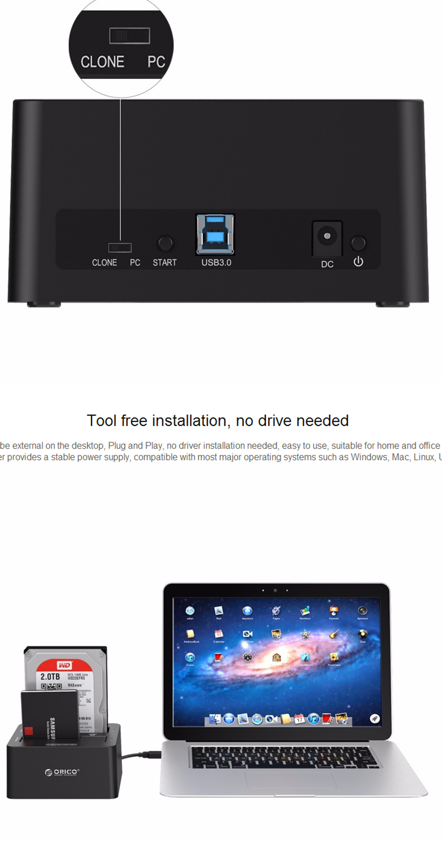 Orico Sata To Usb30 External Hard Drive Docking Station Eu Plug 6629us3 C Usb 30 Dual Bay Hdd Avoid Data Loss Do Not Remove Or Insert Drives When One Is Working In The Please Power Off Before Removing