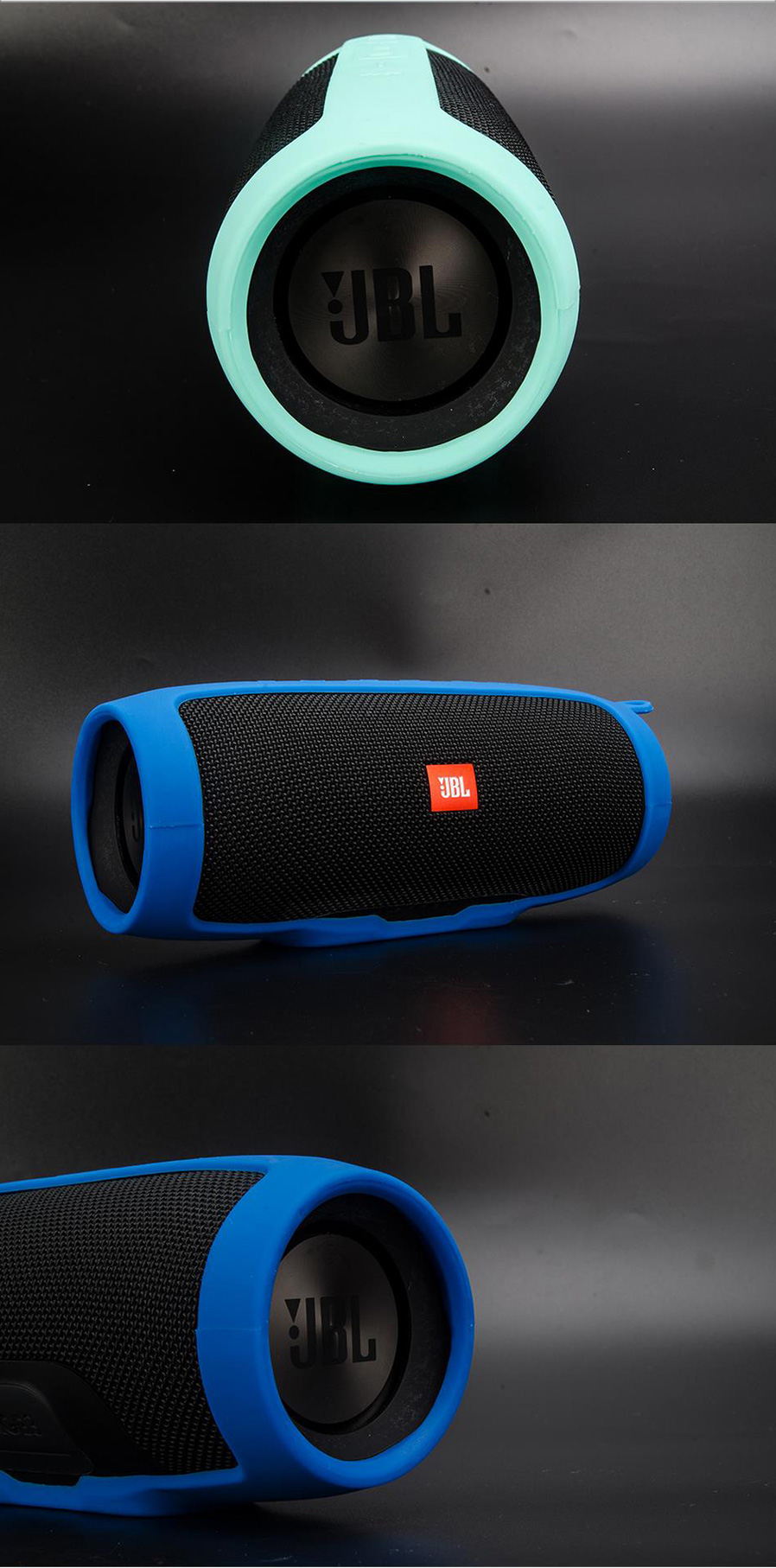Soft Silicone Case Cover For Jbl Charge 3 Bluetooth Speaker Free Charger 8plus New Mini Portable This Lets You To Carry It Your Backpack Bike And More The Has Customized Press Button Icons Volume Up Down Power On Off