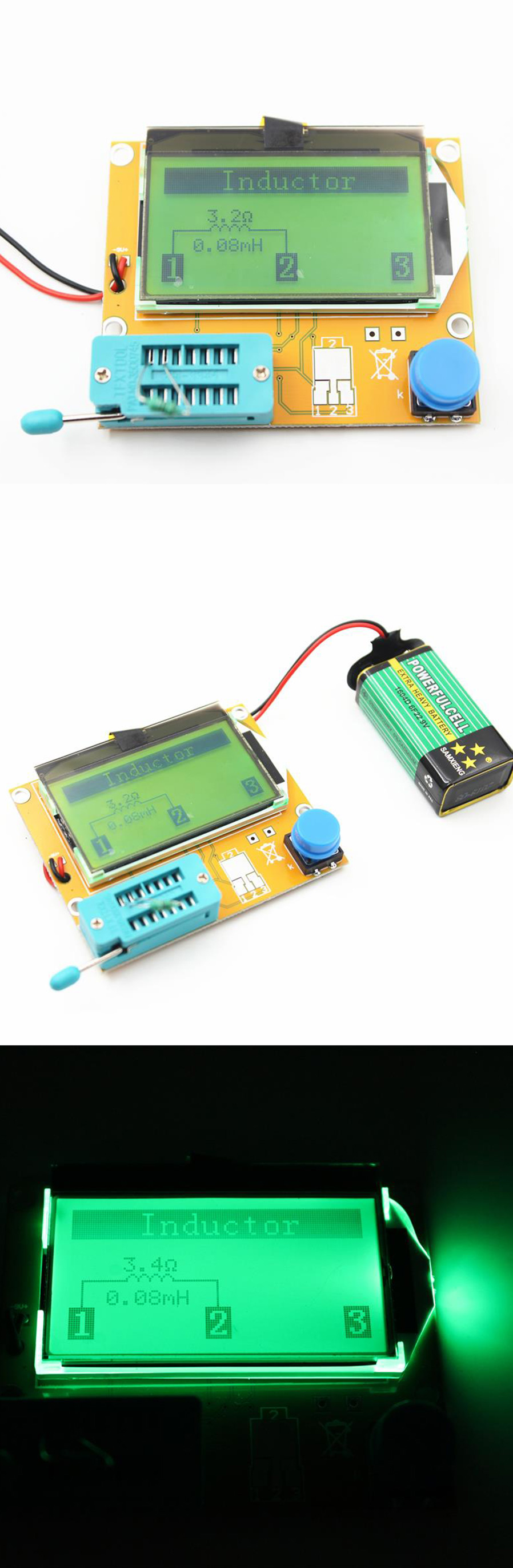 Lcr T4 Digital Transistor Tester Diode Triode Capacitance Esr Meter Auto Electric Bridge Resistance Inductance Resolution Of Measurement 01 Ohms The Highest Measured Value 50m Provided Testing Current Approx 6ma