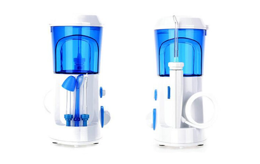 f65706688 Start from lowest water pressure setting - Leaning over sink   Opening lips  a little while flossing.