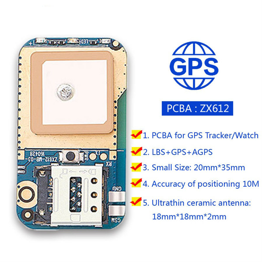 Zx612 Mini Hidden Gps Tracker Positioner Locator For Kids Children Pcb Circuit Board Buy Trackermini 10 Vibration Alarm 6666on 6666off Open Close 11 Remote Pickup Call Monitornumber Set The Monitor Number