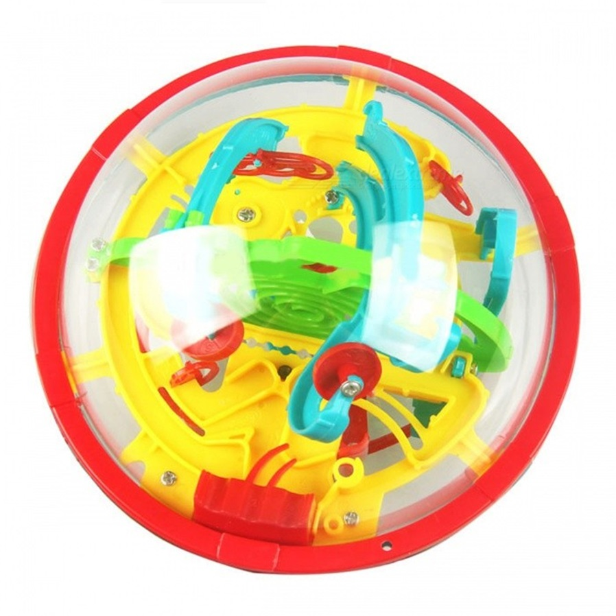 Mini 100 Levels 3d Magic Puzzle Ball Balance Logic Ability Game Circuit Mazeelectric Current Brain Teaser Amazing Toys Combined Counterweight Mental Logical Thinking Hand Dexterity Exercise Practical Improve Enhance Understanding Of Space