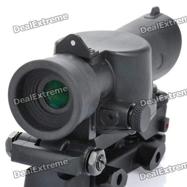Professional, 4X, Rifle, Scope, with, Gun, Mount, Airsoft, Guns, Supplies, Free, Shipping
