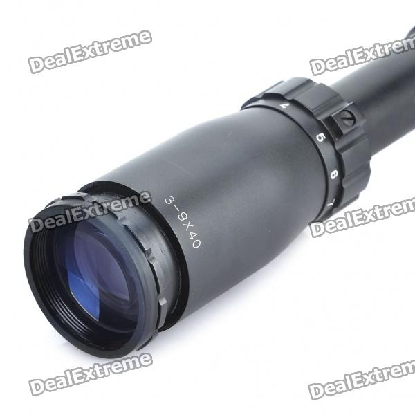 39X, 40mm, Reticle, Rifle, Scope, Black, Airsoft, Guns, Supplies, Free, Shipping