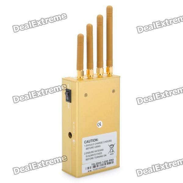 Mini, Portable, GPS, CDMA, GSM, DCS, PHS, 3G, Cell, Phone, Signal, Jammer, Blocker, Golden, Signal, Blockers, Free, Shipping