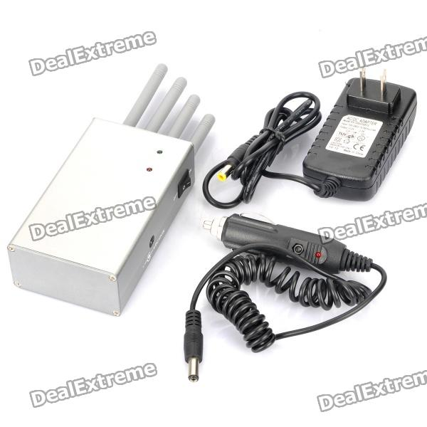 Handheld, WiFi, CDMA, GSM, DCS, PHS, GPS, Cell, Phone, Signal, Jammer, Blocker, Silver, Signal, Blockers, Free, Shipping