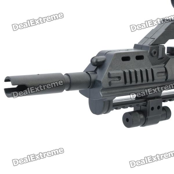 P41, 6mm, BB, Submachine, Gun, Toy, with, Laser, Sight, and, Blue, Light, Flashlight, Black, BB, Guns, Accessories, Free, Shipping