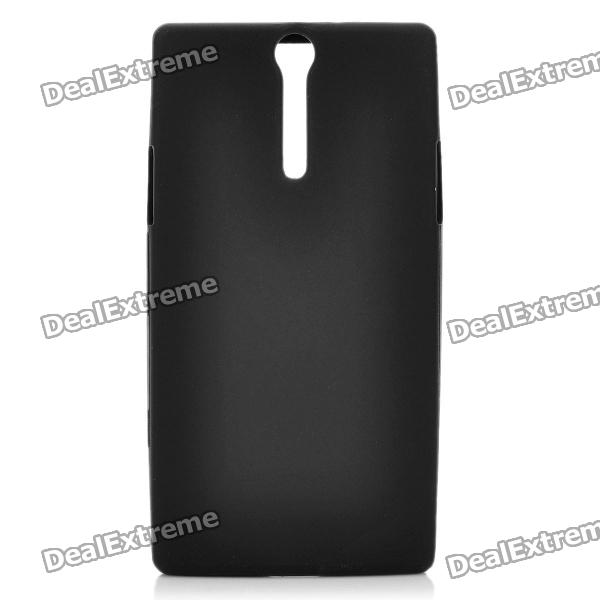 Protective Soft Silicone Back Case for Sony Ericsson LT26i / Xperia S - Black