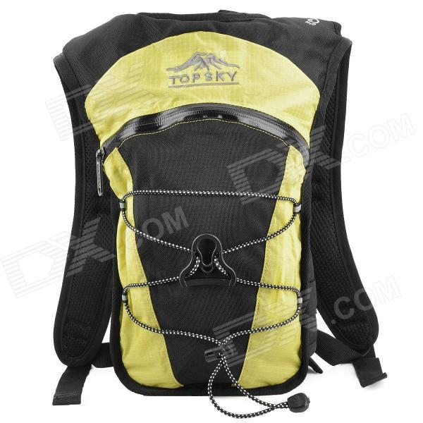 Topsky Outdoor Double-shoulder Backpack - Lemon Yellow + Black