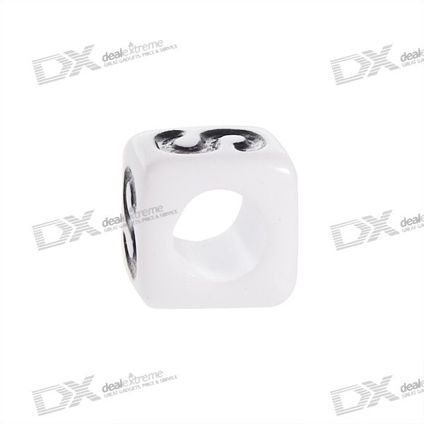 Chainable, Black, and, White, Letter, Cubes, for, DIY, Apparels, 7mm, Assorted, 50Pack, Jewelry, Accessories, Free, Shipping