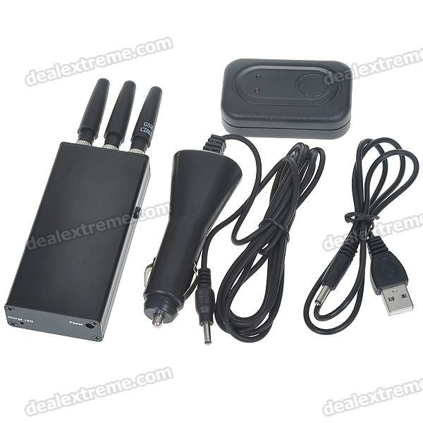 Portable, Rechargeable, CDMAGSMDCSPHS3G, Cell, Phone, Signal, JammerBlocker, Signal, Blockers, Free, Shipping