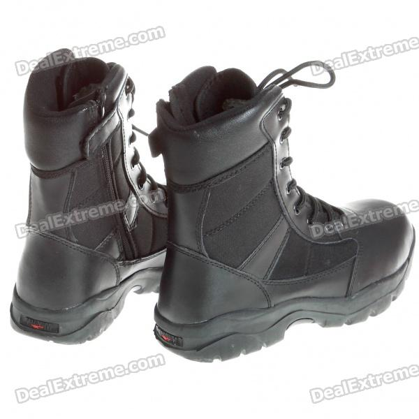 Stylish, Cool, Warm, Leather, Boots, Shoes, Black, Size, 42Pair, Shoes, Free, Shipping