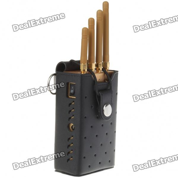 TG122D, High, Power, Handheld, Cell, Phone, Signal, Jammer, Golden, Signal, Blockers, Free, Shipping