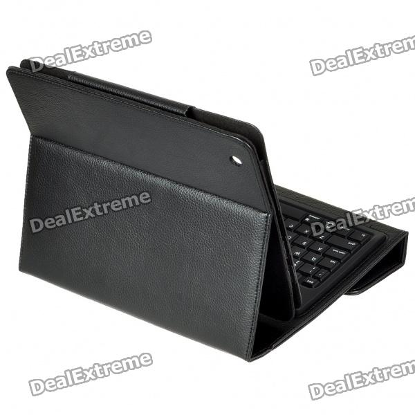 76Key, Wireless, Bluetooth, Keyboard, With, Folding, Leather, Case, for, iPadiPad, 2, Black, Keyboards, Free, Shipping