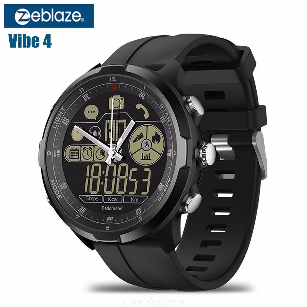 Zeblaze VIBE 4 HYBRID 1.24 Inch Round Bluetooth Smart Watch With Heart Rate  Tracker And Passometer 51e14ffa33a