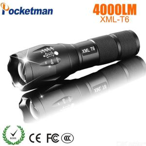 Pocketman XML T6 Rechargeable LED Flashlight, 600 Lumen Zoomable Flashlight For Camping And Hiking