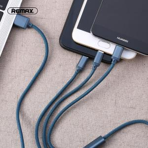 REMAX 3-in-1 PVC Braided Micro USB/Type-C/Lightning Charging Cord