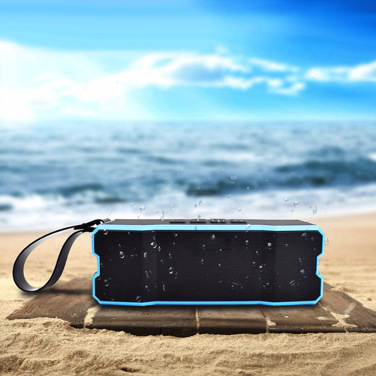 IPX67 Waterproof Portable FM Bluetooth Speaker Outdoor Cycling Home Stereo  Wireless Speaker For Phone Laptops Black 969b0f00b0c48