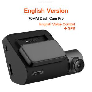 XIAOMI 70mai Dash Cam Pro 2 Inch GPS 1944P HD 140 Degree FOV English Version Dash Camera W/Sandisk Memory Card
