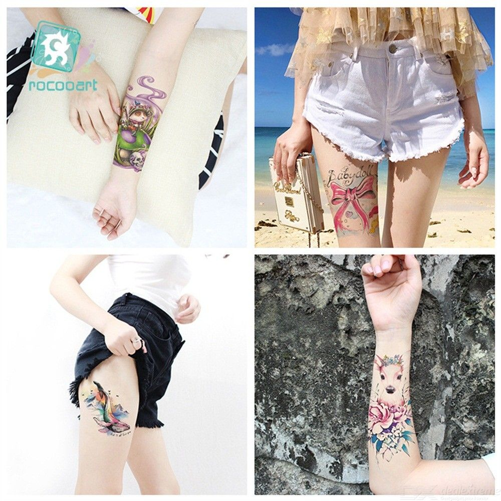 7e00b718f418e 21 X 15CM Temporary Tattoo Sticker Waterproof Colored Tattoos - Free ...