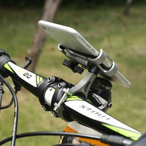 Universal Bike Phone Clamp Alloy Cell Phone Mount With 360 Degrees Rotation Range