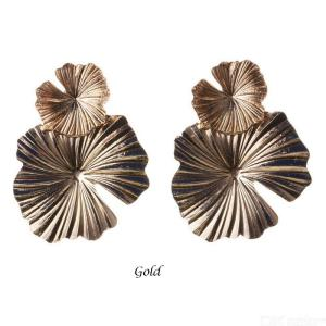 Exaggerated Dangle Earrings Alloy Flower Shape Temperament Personality Jewelry For Women