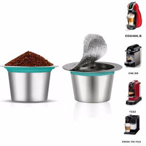 Reusable Stainless Steel Nespresso Refillable Coffee Capsule Refilling Cup Filter Machine Maker Pod