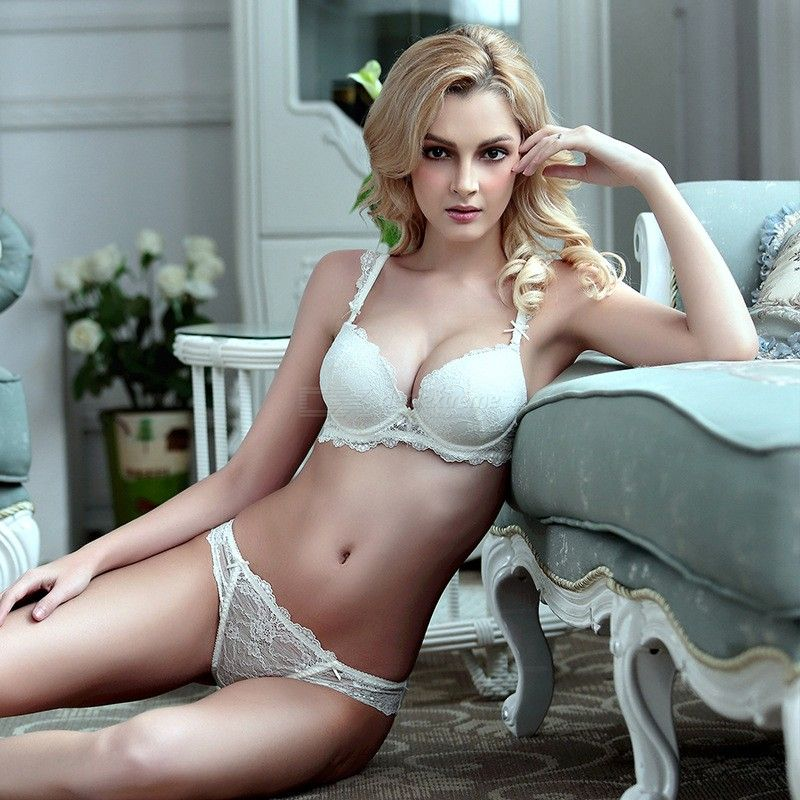 3aa30b4716f76 Sexy Lace Bra Set Gather Adjustable Underwear Sets For Women A B C Cup -  Free shipping - DealExtreme