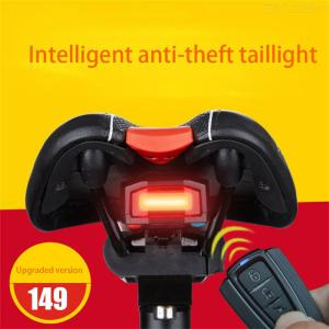 Waterproof Bike Tail Light With Theft-deterrent Alarm Rechargeable Lamp For Bicycle